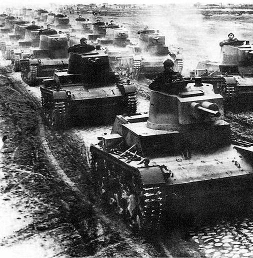 Czołgi 7 TP na manewrach