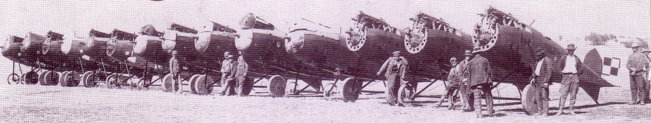 Montaż Oeffagów D.III z drugiej dostawy dla polskiego lotnictwa