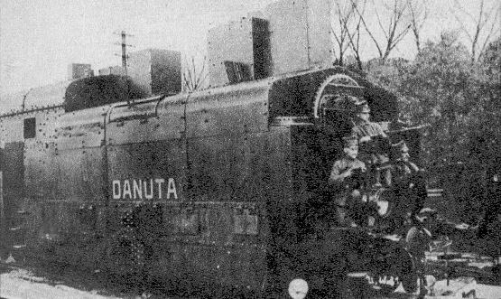 Pociąg pancerny powstańców wielkopolskich Danuta w 1919 roku