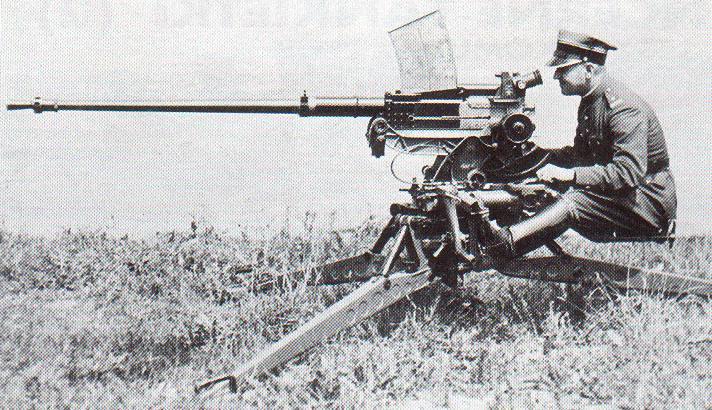 NKM wz.38 FK model A podczas prób, na podstawie przeciwlotniczej