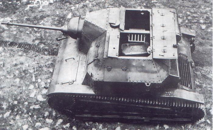 Tankietka TK-3 przebudowana i uzbrojona w nkm wz.38 FK model A