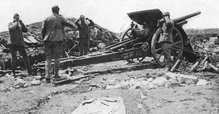 105 mm armata wz.13 podczas I wojny światowe
