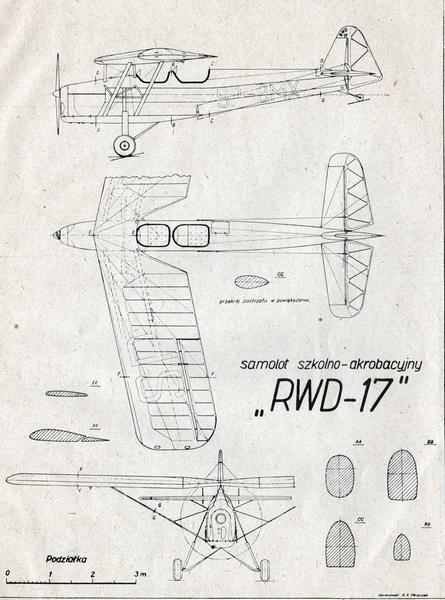 RWD-17, plany modelarskie