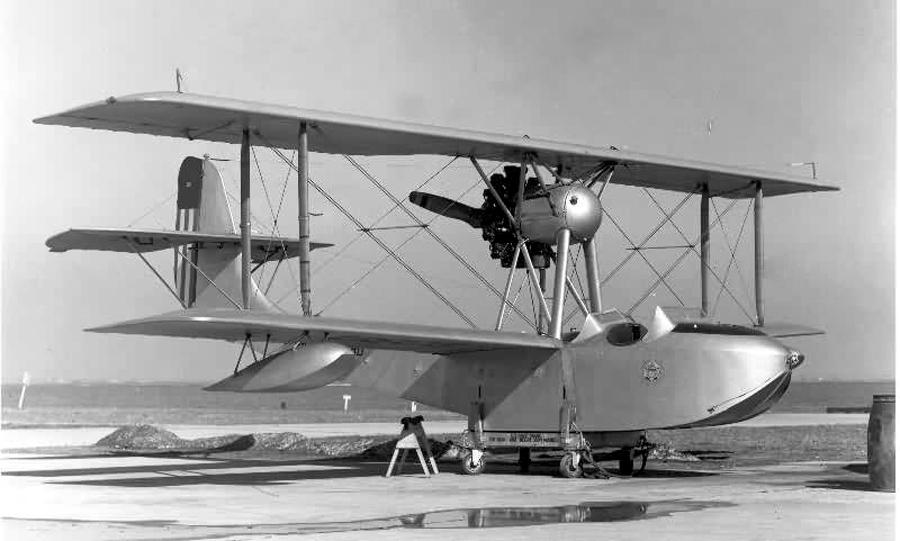 Łódź latająca oo-1 Viking, czyli łodź Schreck, budowana na licencji w USA