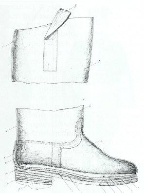 Przekrój buta wz.1931