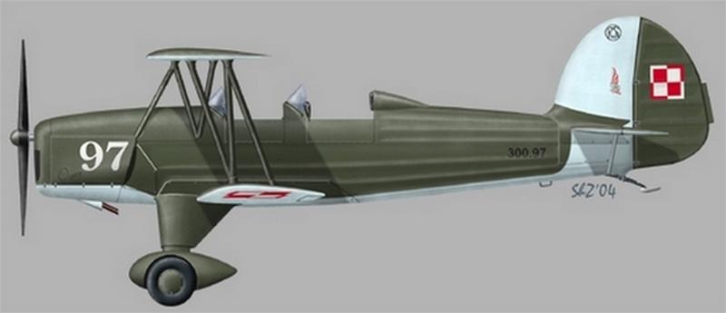 Samolot PWS-35 Ogar w hipotetycznych barwach SPL w Dęblinie