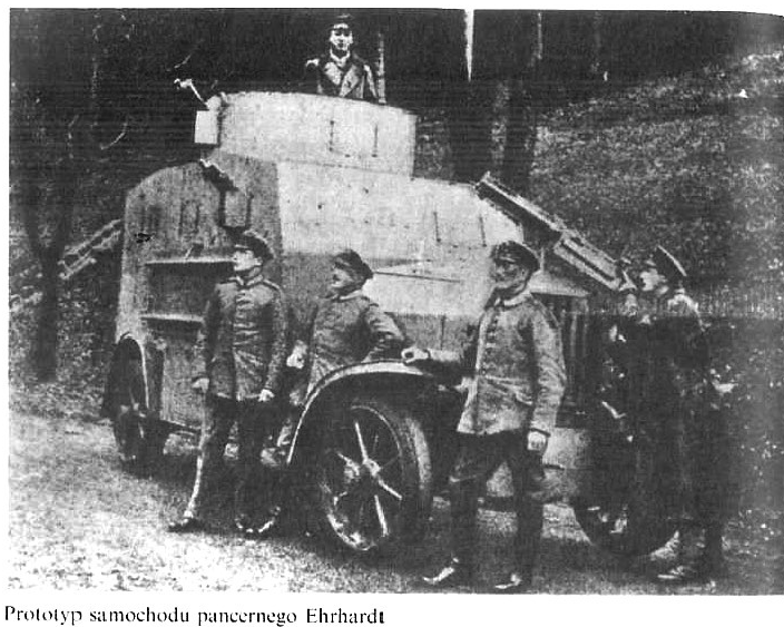 Prototyp samochodu pancernego Ehrhardt