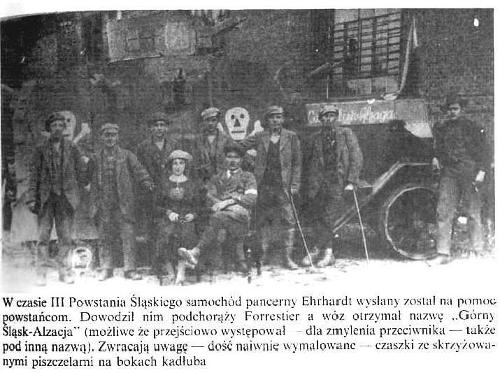 Samochód pancerny Ehrhardt w trakcie III Powstania Śląskiego