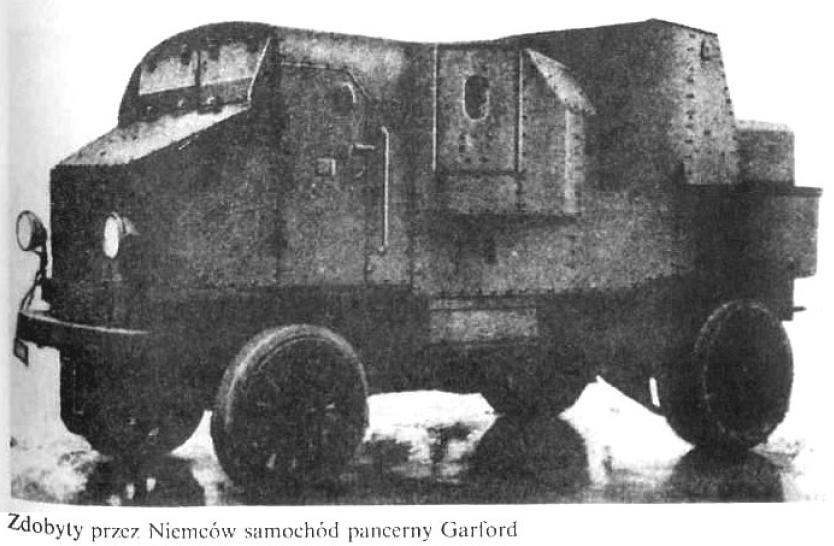 Zdobyty przez Niemców samochód pancerny Garford