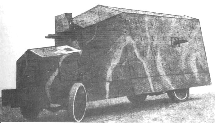 """Improwizowany samochód pancerny """"Bukowski"""" (podwozie samochodu ciężarowego Packard), Lwów, lipiec 1920"""