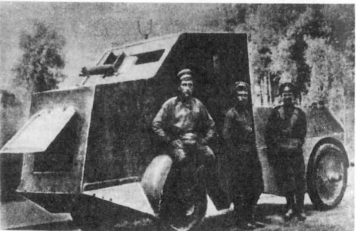 Samochód pancerny Jeffery-Popławko z 30 specjalnego dywizjonu samochodów pancernych Frontu Południowo-Zachodniego armii rosyjskiej. Zdjęcie prawdopodobnie z wiosny 1917