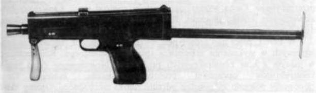 Prototyp 9 mm pistoletu maszynowego Glauberyt