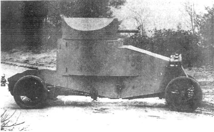 Pierwszy prototyp samochodu pancernego Lanchester