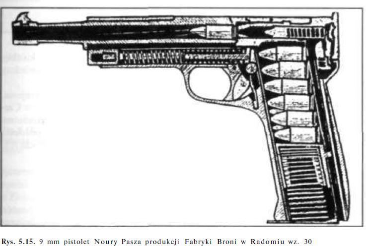 9 mm pistolet Noury Pasza produkcji Fabryki Broni w Radomiu wz. 30