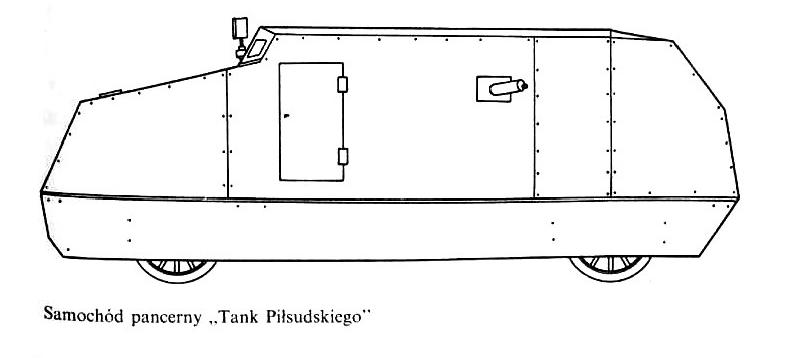 """Samochód pancerny """"Tank Piłsudskiego"""""""